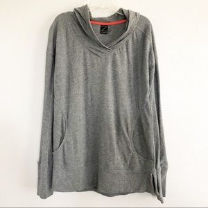 Zella Gray Pullover Workout Sweater Sz Small